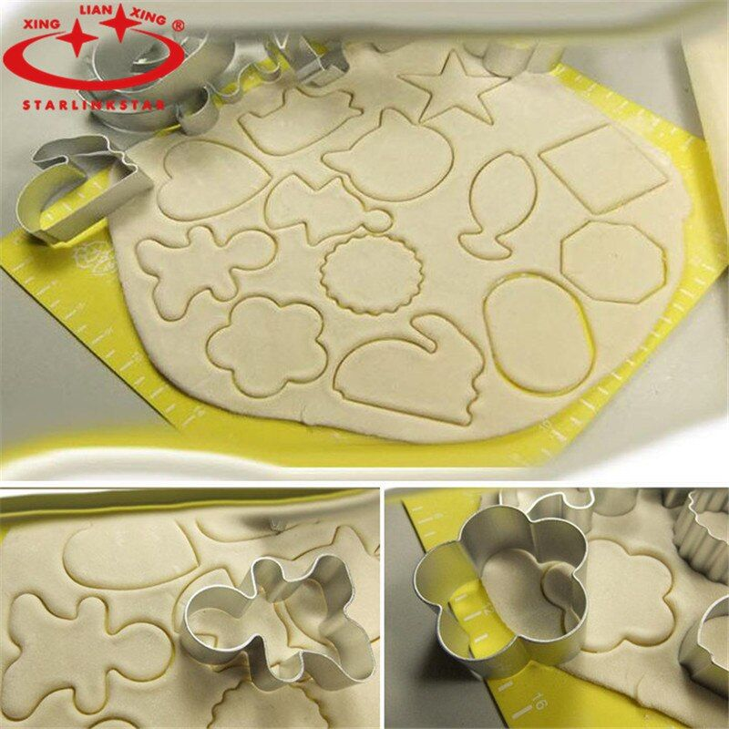 1Pcs Aluminium Alloy Cookie Cutter Tools  Gingerbread Men Shaped Holiday Biscuit Mould Kitchen cake Decorating Tools