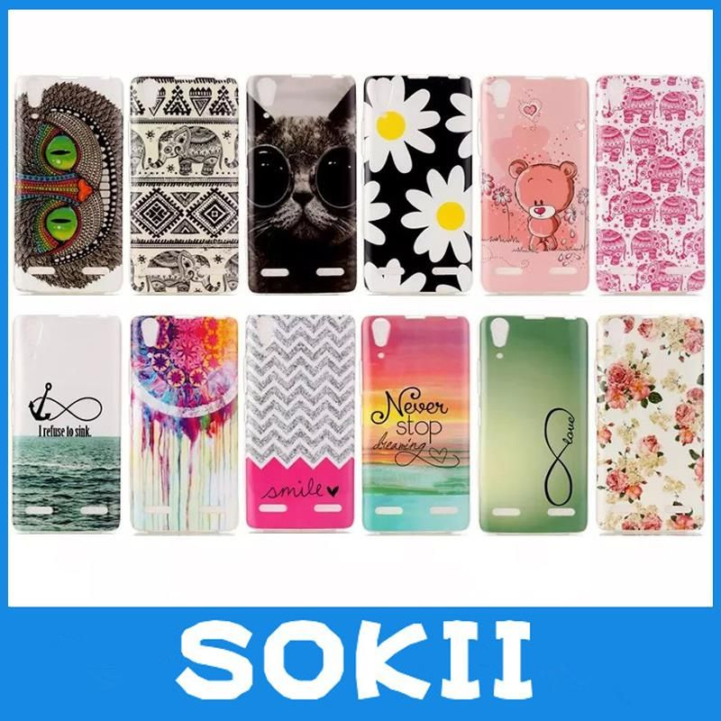 forFor Lenovo Lemon K3 A6000 Soft Tpu Gel Skin Back Cover for Lenovo K3 A600 Case Cartoon Painting Mobile Phone Cases Capa Para