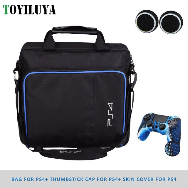 Protective Consol Bag for PS4 Game System Canvas Carry Bags Case Shoulder Bag Handbag for PlayStation4 PS4 Console ControllerBag