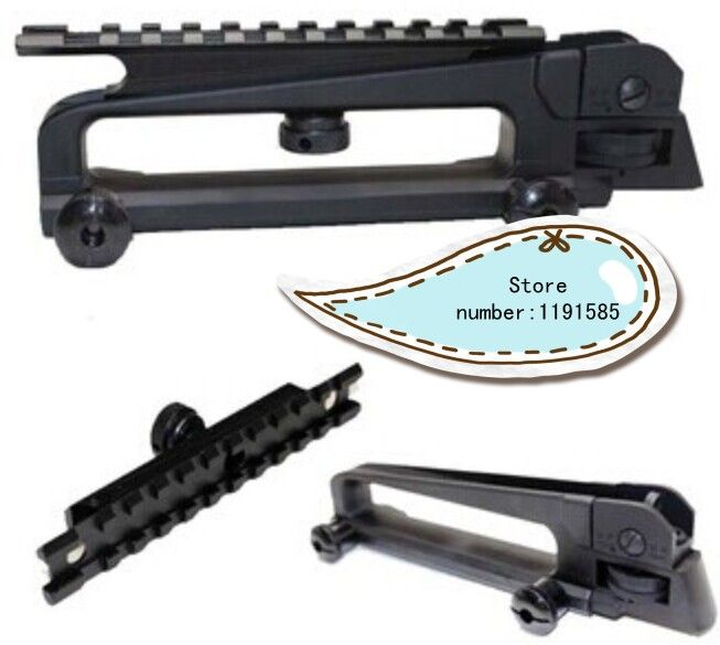 Tactical Detachable Carry Handle and rear sight With See through Picatinny Rail Mount Combo M4 M16 AR15