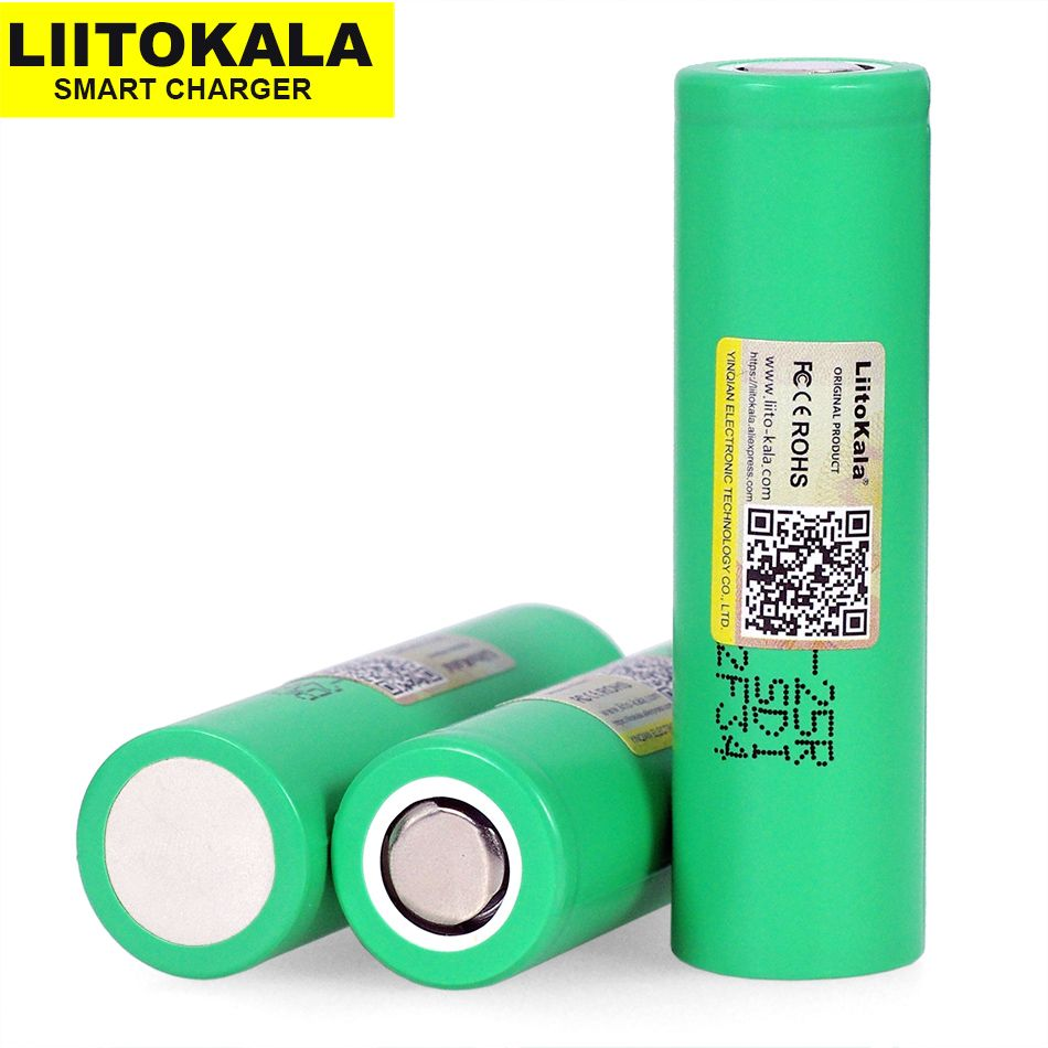 6 pcs.  Liitokala Original 25R 18650 2500 mAh lithium battery discharge 20A Electronic Cigarette Rechargeable batteries