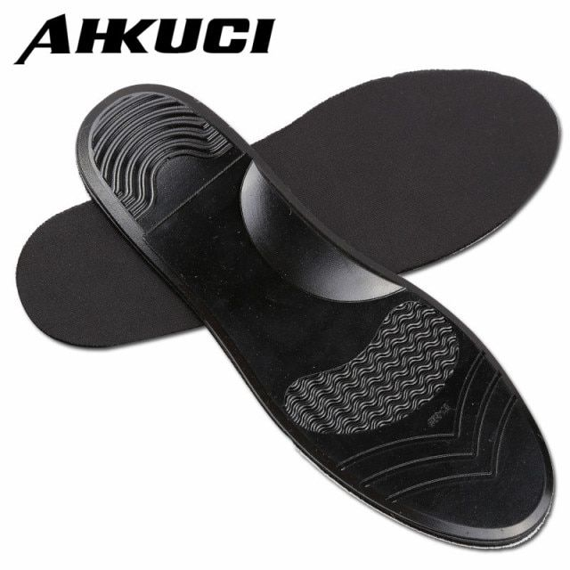 Unisex Arch Support Shoe Pad Black Silicon Gel Insoles Anti-Slippery Insert Shock-Absorbant Cushion for Men Women