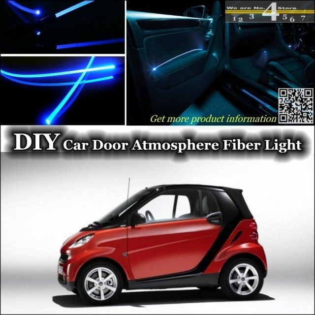 For Mercedes Benz MB Smart Fortow Forfour RoadSter interior Ambient Light Tuning Atmosphere Fiber Optic Band Lights For Tuning