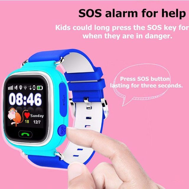 1.22 Touch Screen Smart baby watch GPS tracker GPS+LBS+WiFi Smartwatch Anti Lost GPS watch with SOS for kids