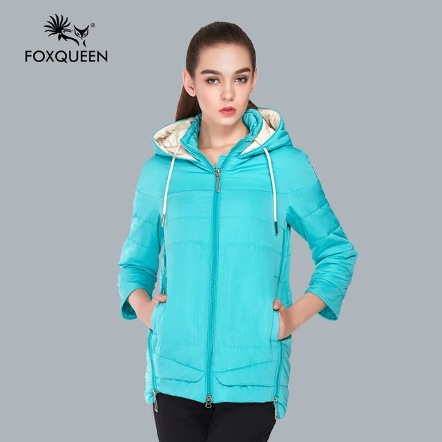 FOXQUEEN 2016 new fashion Spring warm big size women's jacket for female stylish plus size coat