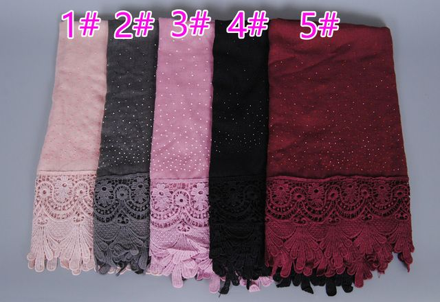 9 color Luxury diamond cotton Fashion lace scarf hijab floral glitter beach long muslim autumn wrap scarves/shawls 10pcs/lot