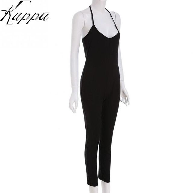 Pure Color Rompers Women Casual Slim Strappy O-neck Sexy Sleeveless Jumpsuit Ladies Elegant Body Shape Jumpsuits Playsuits