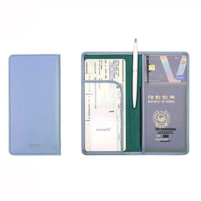 Fashion Travel Passport Credit ID Card Holder Cash Women Long Wallet 6 Colors Organizer Bag Purse Wallet