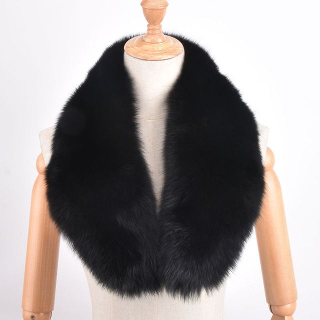 PYCCKNN MEX Fashion Genuine Fox Fur Collar Raccoon Fur Muffler Real Fur Scarf  Accessory Women Wrap Wholesale/Retail