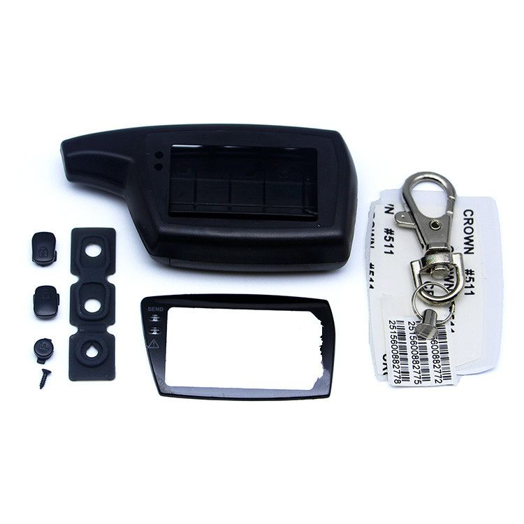 D3000 Case Keychain Cover, Compatible with Two way car alarm system PANDORA DXL 3000 DXL3000 LCD Remote Control Key Fob Chain