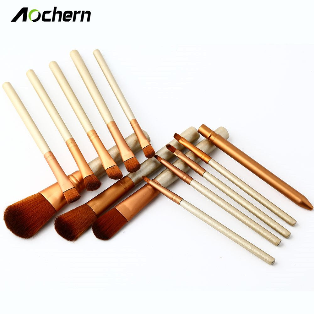 Aochern Professional 13Pcs MakeUp Brushes Set Foundation Face&Eye Powder Cosmetics Makeup Brush
