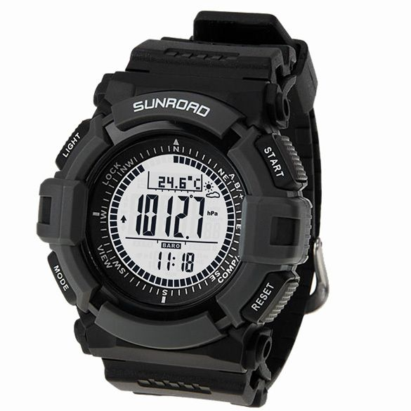 Men's sport Digital-watch SUNROAD FR821A Altimeter Barometer Compass Thermometer Weather Pedometer Digital Watch