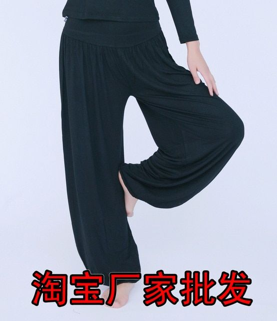 Free shipping Hot bloomers plus size loose tai chi pants fitness modal pants  Wholesale and retail