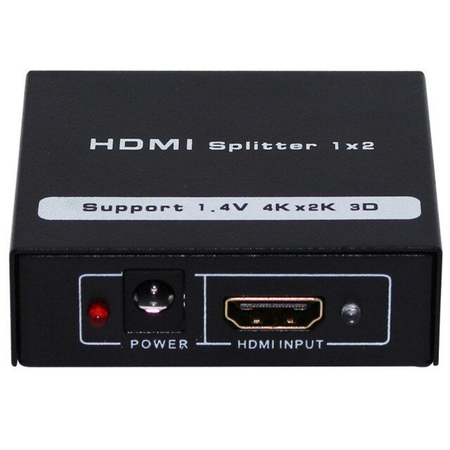 1pcs HDMI Spliter 2 Port 1.3Hdmi Splitter 3D 1x2 HDMI Switch + DC 5V Adapter ,1 In 2 Out Switcher Support HDTV 1080P