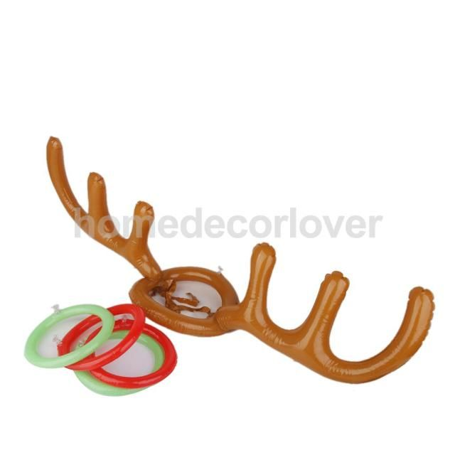 Inflatable Reindeer Antler Ring Toss Luau Tropical Beach Pool Party Game
