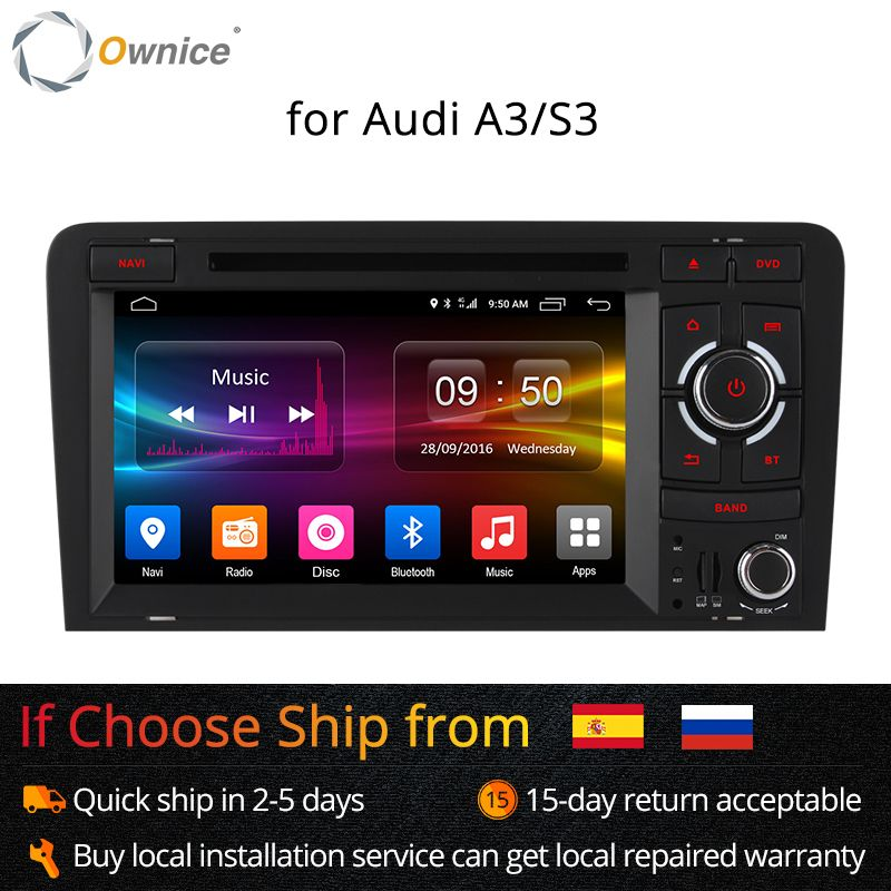 "Ownice C500 Octa Core 4G SIM LTE Android 6.0 2 Din 7"" Car DVD Player For Audi A3 S3 2004-2011 Radio GPS Navi BT 2GB RAM 32GB ROM"