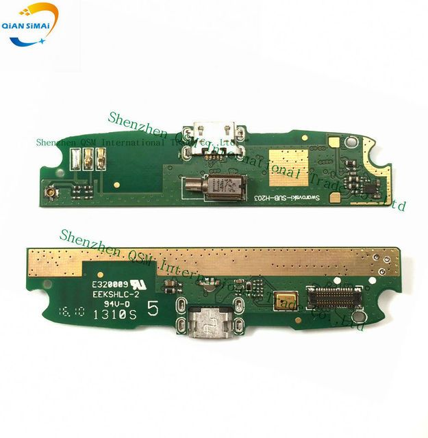 QiAN SiMAi New Original Genuine USB  Charge Board with Flex cable & Microphone for Lenovo S820 Mobile phone + DropShipping