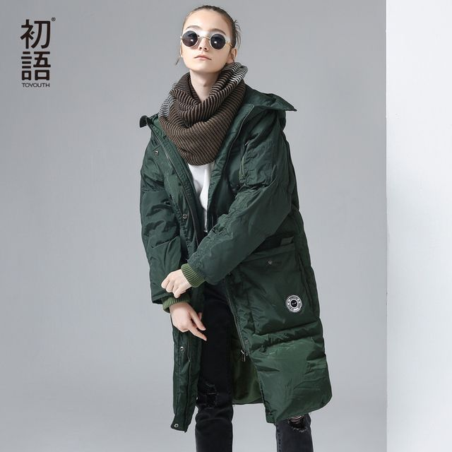 Toyouth 2017 Winter New Duck Down Costs Female Long Warm Thicken Down Coats Hoodies Parkas