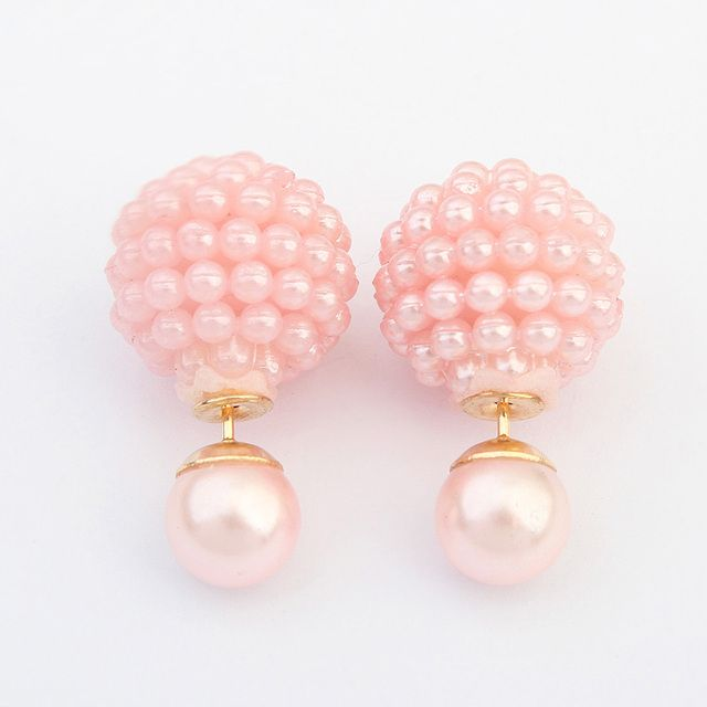 5 Colors Brand Extendy Imitation pearl  fashion earring Trendy Cute Charm Pearl Statement Ball Stud earrings  for women