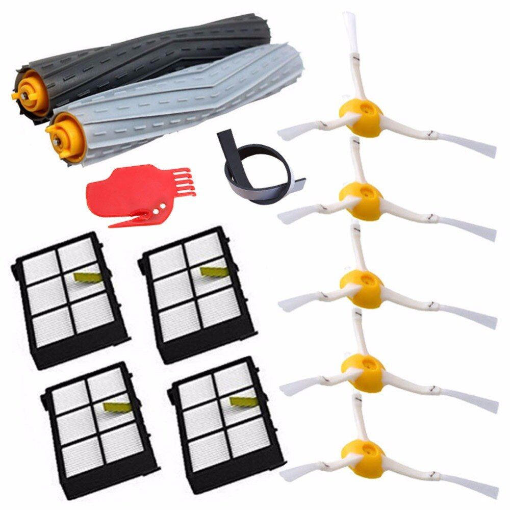 13Pcs/Lot Tangle-Free Debris Extractor Replacement Kit iRobot Roomba 800 900 series 870 880 980 Vacuum Robots accessory parts