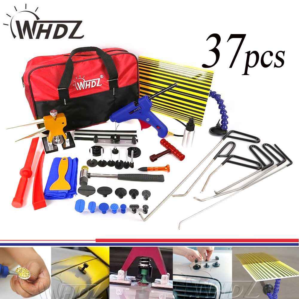 37pcs Hook Tools Set Dent Removal paintless Dent repair Tools Car Dent puller Reflector Board pdr auto body repair hand tool set