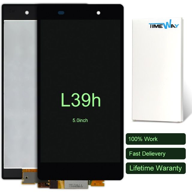 DHL 10pcs full LCD display +Digitizer Touch Screen Glass FOR Sony Xperia Z1 L39h L39 C6902 C6903 C6906 Assembly