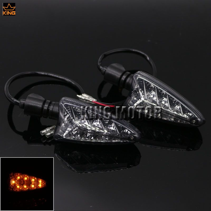 For Aprilia NA 850GT NA 850 Mana SL 750 Shiver Motorcycle Accessories Blinker LED Turn Signal Indicator Light Smoke