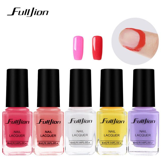 Fulljion 6ml Nail Polish Glue Peel Off Liquid Nail Art Makeup Tools Tape Latex Tape Finger Skin Protected Liquid Nail Gel