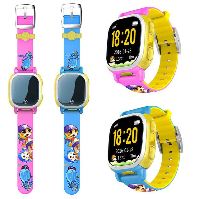 Kids Safety Wearable Phone Locator GPS SOS LBS SMS Smart Watch Tencent QQWatch