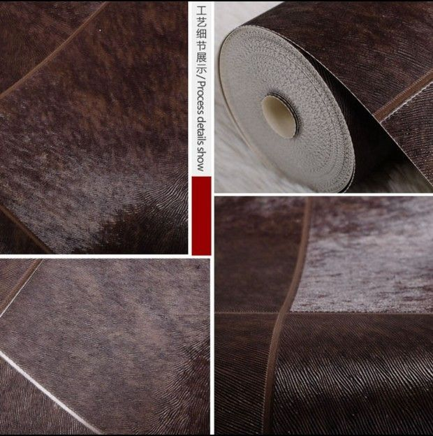 10m*53cm High-end home decoration Sleek otter fur marble tile lines  wallpaper sitting room bedroom wall stickers fashion feast