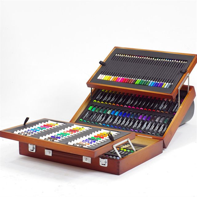High Quality Painting Set Includes Oil/Acylic /Watercolor Paints Colors Pencils Painting Brush Paper Artist Stationery