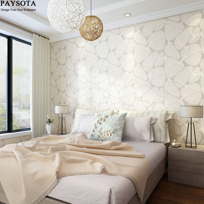 PAYSOTA New Abstract Geometric Wallpaper Roll Modern Wood Fiber For Walls 3 D Wallpapers In Rolls For Living Room Bedroom