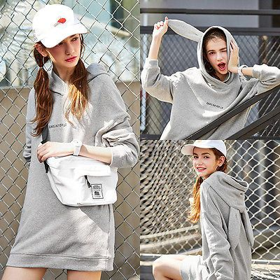 Women Rabbit Ears Long Sleeve Hoodie Sweatshirt  Hooded Coat Pullover JZ8