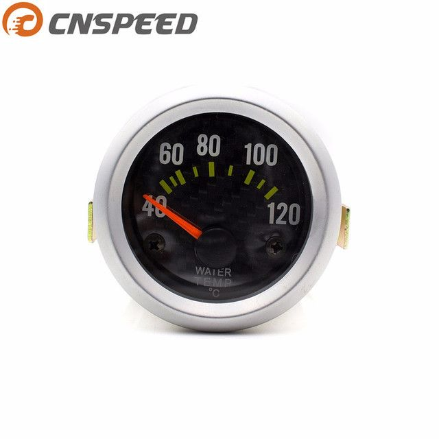 2inch 52mm Water Temperature Gauge 40-120C Carbon Style Water Temp Gauge With Sensor Car meter YC100034