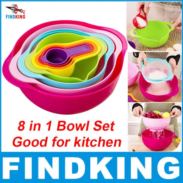FINDKING brand high quality 8 in one set dinnerware set kitchenware set kitchen Bowl set kitchen tool