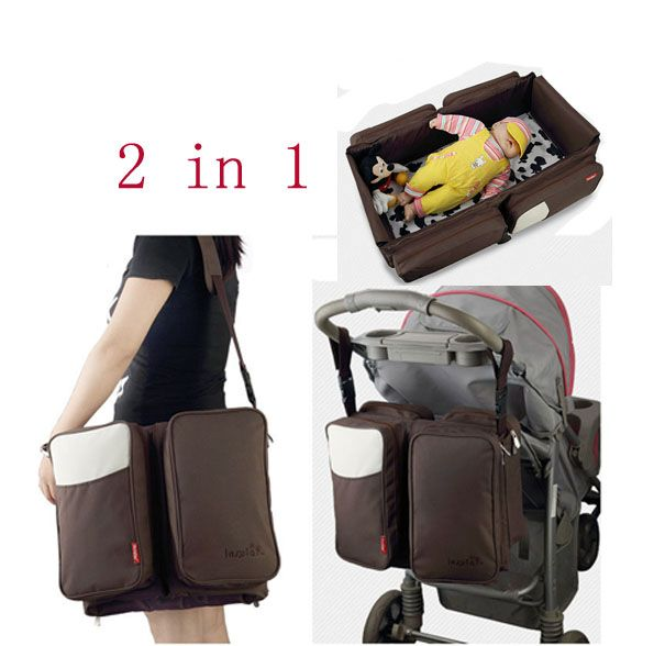 Large Capacity Multi-function Mummy bag 2 in1 Baby Bed Portable Folding Travel Crib Baby Beds