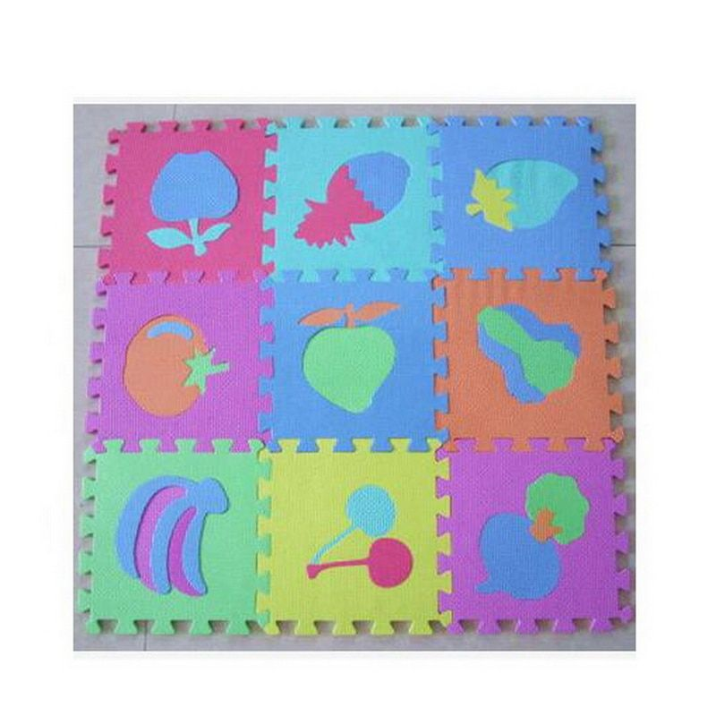 10pcs/Pack Baby Play Mat Cartoon Eva Foam Puzzle Mat Children Jigsaw Educational Playmat Digital & Fruit & Animal Play Mats