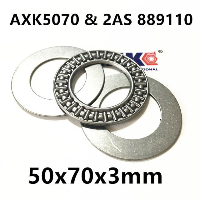 AXK5070 & 2AS 889110 Thrust Needle Roller Bearing & Washers 50x70x3mm