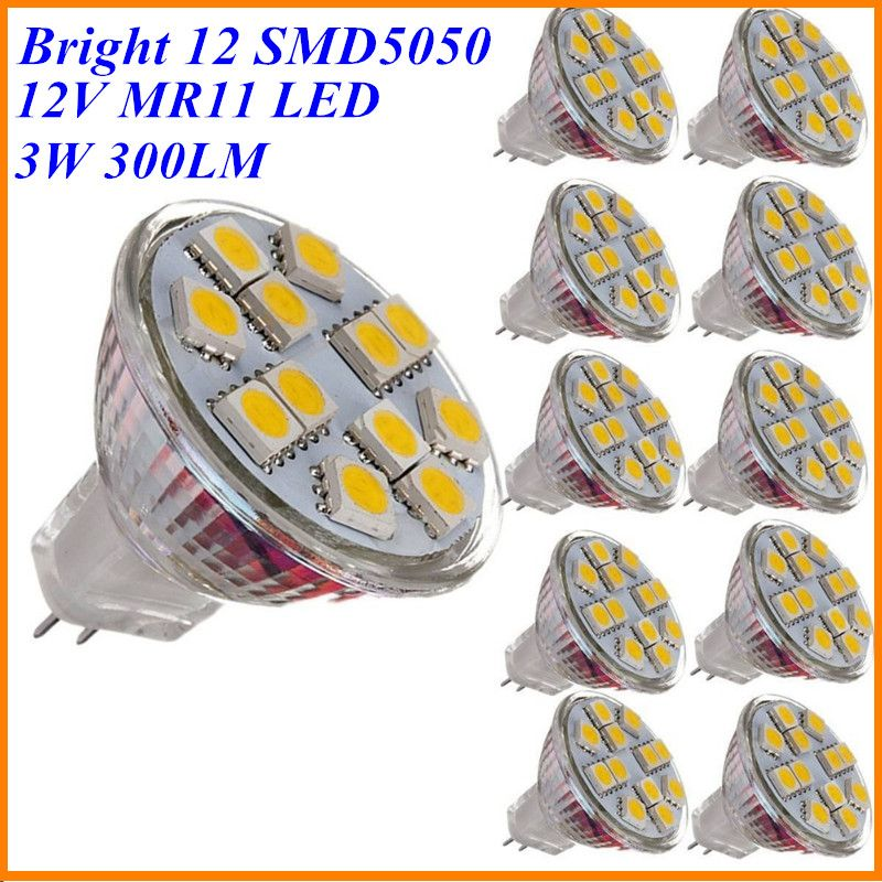5X 3W MR11 LED Spotlight Bulb 12V DC Mini Cup GU4 Lamp 12 SMD5050 Warm White Replace Halogen 20W for Home Lighting