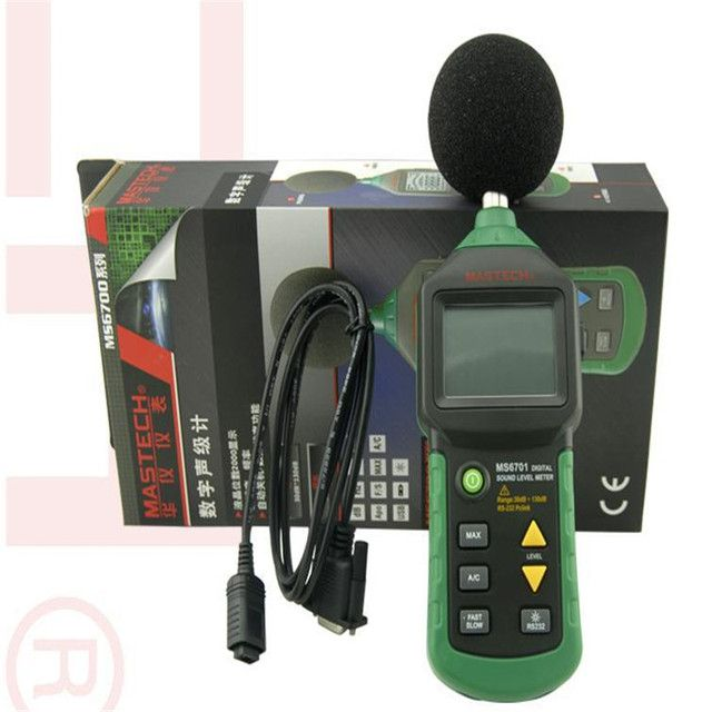 MASTECH MS6701 Autoranging Digital Sound Level Meter Decibel Tester WITH RS232 INTERFACE and software , 30dB to 130dB