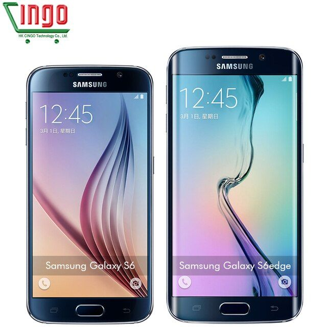 "Original Samsung Galaxy S6/S6 Edge G925F Mobile Phone Octa Core 3GB RAM 32GB ROM LTE 16MP 5.1""inch Android 5.0 SmartPhone"