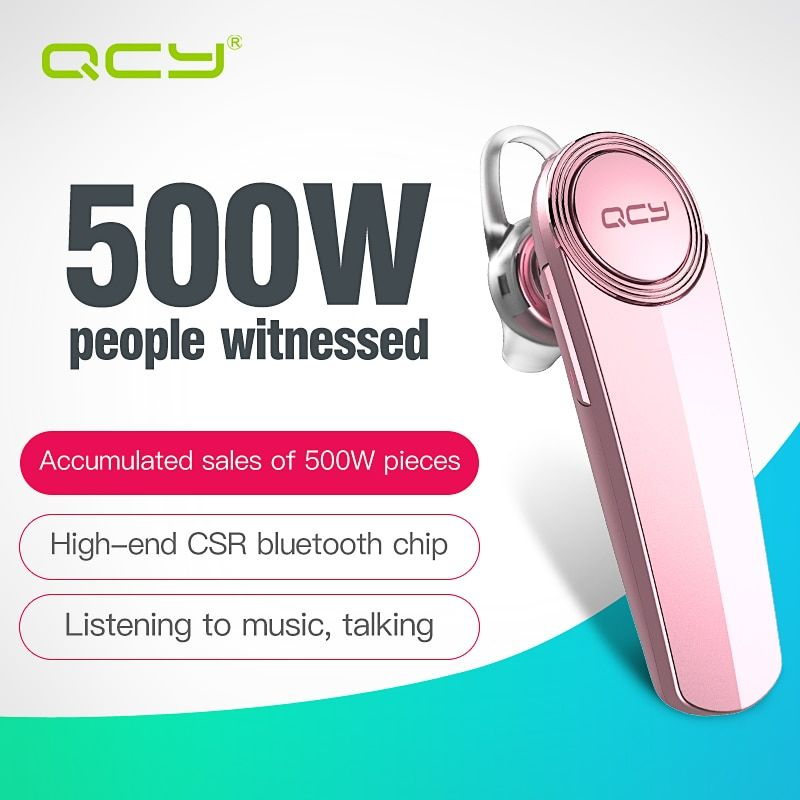 QCY Q8 English voice stereo call headset bluetooth earphone wireless headphone with Microphone for phone calls