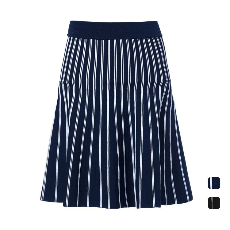 long maxi skirt high quality women winter skirt  2016 new fashion runway knitted pleated skirt striped skirt warm thick skirt