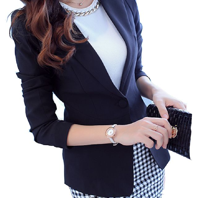 Fashion Women Blazers Ladies Summer Spring Dress Coat Slim Solid  Bussiness Office Work wear New Hot Blazers Casual Clothing