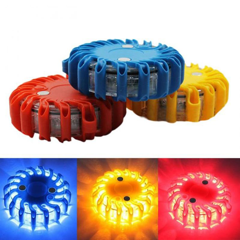 Rechargeable LED With Magnetic Car Light Round Beacon Emergency Strobe Flashing Warning Lights Roof Police Light bar Yellow