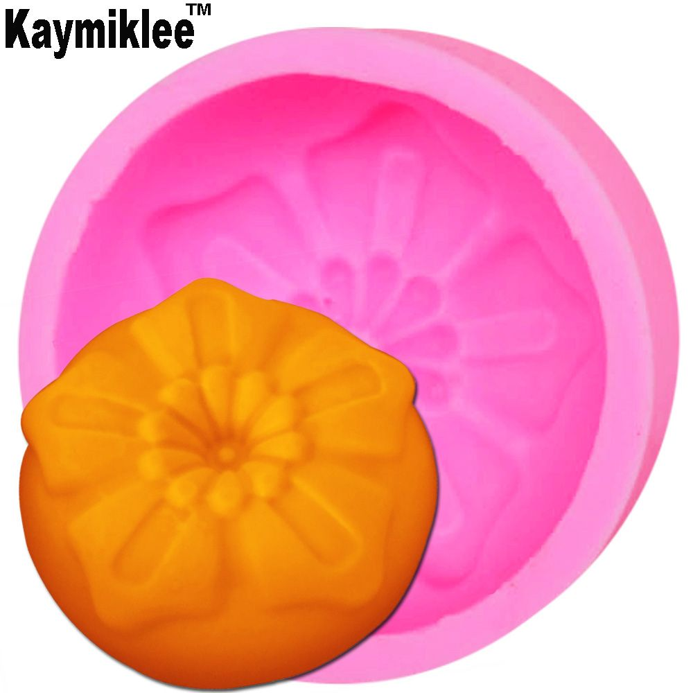 Kaymiklee S090  3D Silicone Soap Mold Flower Chocolate Mould Candle Molds Crafts DIY Forms For Cheap Soap Tool