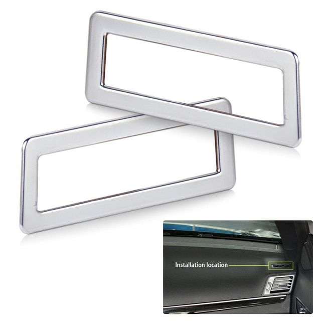 beler Chrome Plated Dashboard Air Vent Outlet Trim Cover for Mercedes Benz W212 E200 E300 Couple 2010 2011 2012 2013 2014 2015