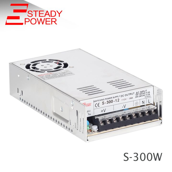 china manufacturer smps transformer 220v to 24V 12.5A ,12V 25A 300W switching power supply&led power supply