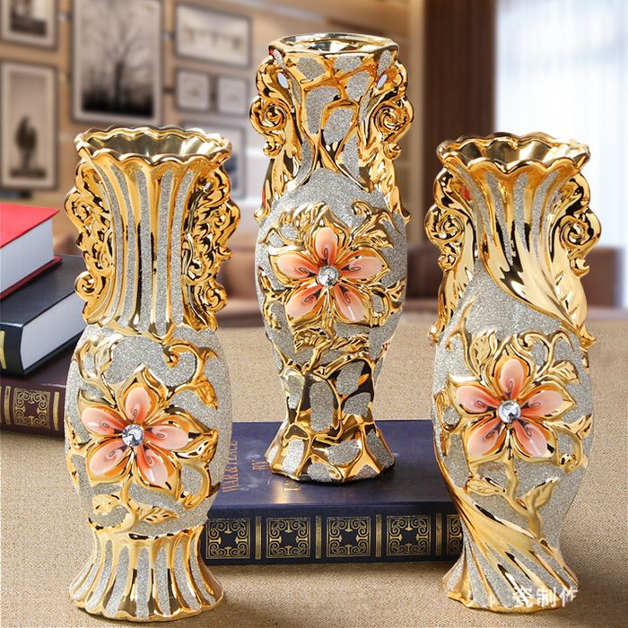 Free Ship European Modern Ceramic Flower Vase,Decorative Vases,Home decoration modern or Wedding Decoration Vaso,Jingdezhen vase
