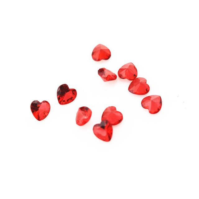 100pcs/lot red crystal birthstone heart floating charms living glass memory floating lockets diy jewelry